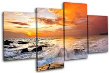 Beach Sunset Seascape - 13-1150(00B)-MP04-LO